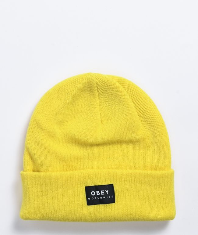 Obey Vernon II Herb Yellow Beanie