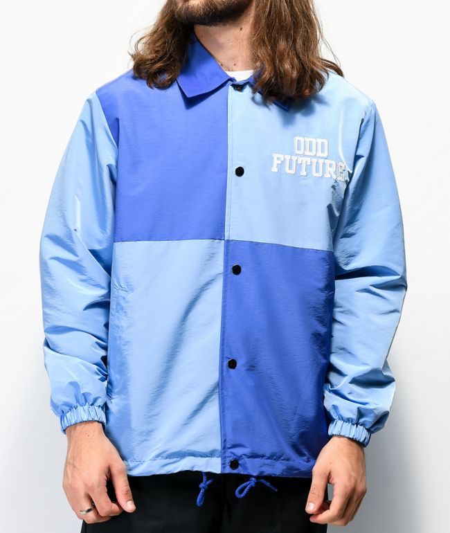 Odd Future Blue Colorblock Coaches Jacket
