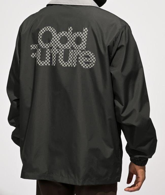 Odd Future Checkered Logo Black Coaches Jacket