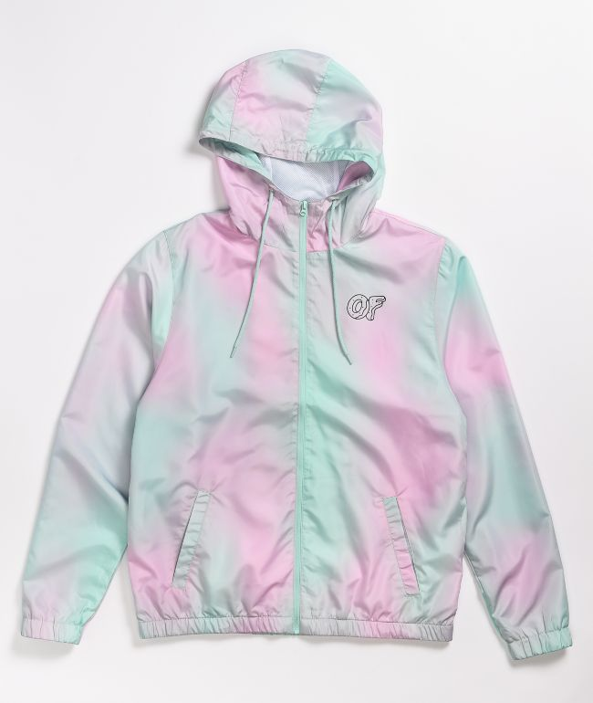 Odd Future Pink & Blue Tie Dye Windbreaker Jacket