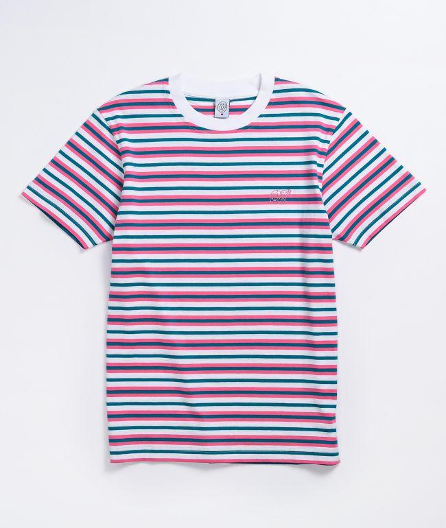 Odd Future Pink & Mint Striped T-Shirt