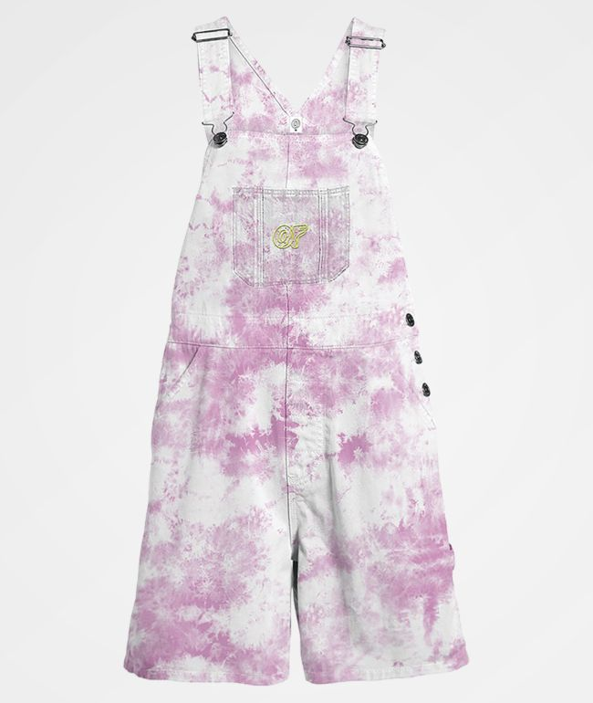 Odd Future Tie Dye Purple Overall Shorts