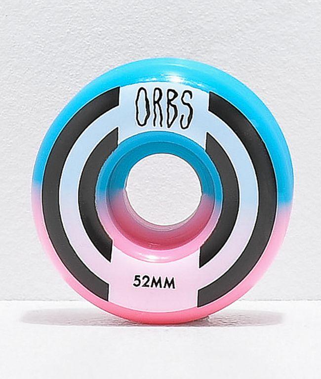 Orbs Wheels Apparitions Split 52mm 99a Pink & Blue Skateboard Wheels
