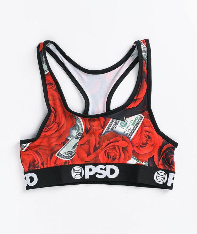 PSD 100 Roses Sports Bra