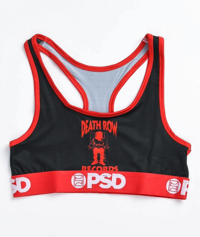 PSD x Death Row Records Black & Red Sports Bra