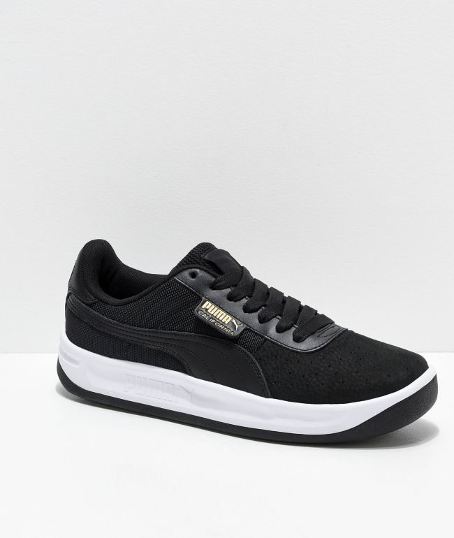 habla fusible Comprensión  PUMA California Black & White Shoes | Zumiez