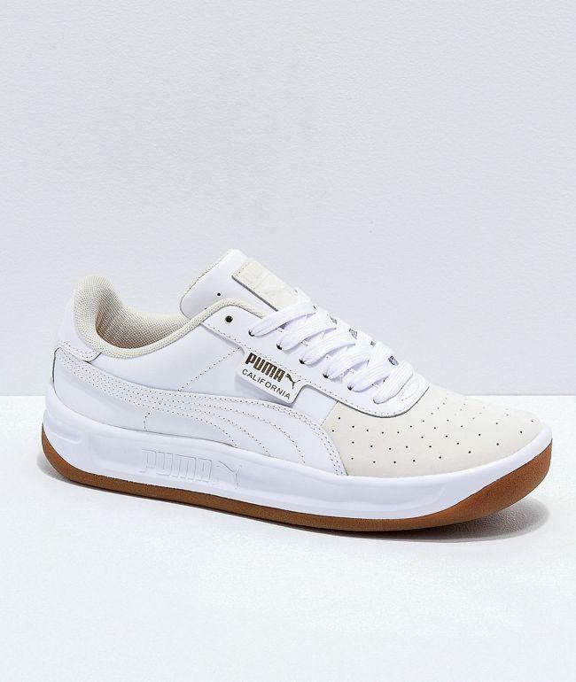 con las manos en la masa En la mayoría de los casos Silicio  PUMA California Exotic zapatos blancos de goma | Zumiez