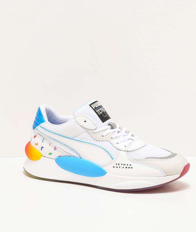 PUMA x Tetris RS 9.8 White Shoes | Zumiez