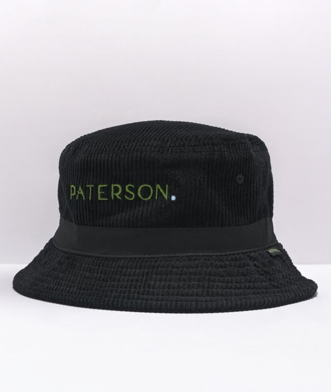 Paterson Le Pom Black Corduroy Bucket Hat