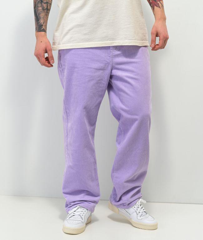 Paterson Wide Leg Lavender Corduroy Skate Pants