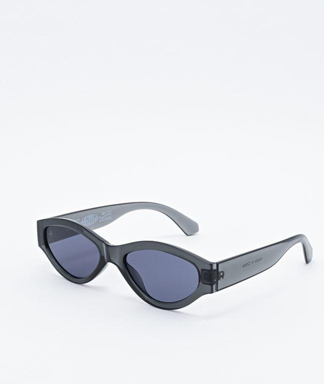 Petals and Peacocks Caution Black Smoke Sunglasses