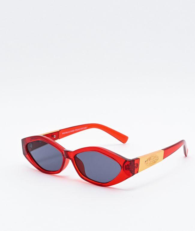 Petals and Peacocks Numerica Red, Gold & Black Sunglasses