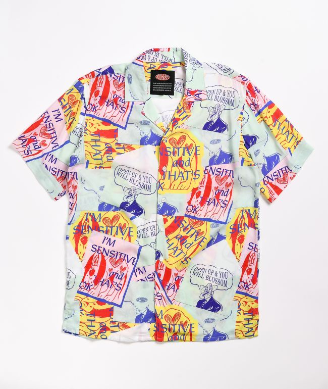 Petals and Peacocks You've Got Mail Short Sleeve Button Up Shirt