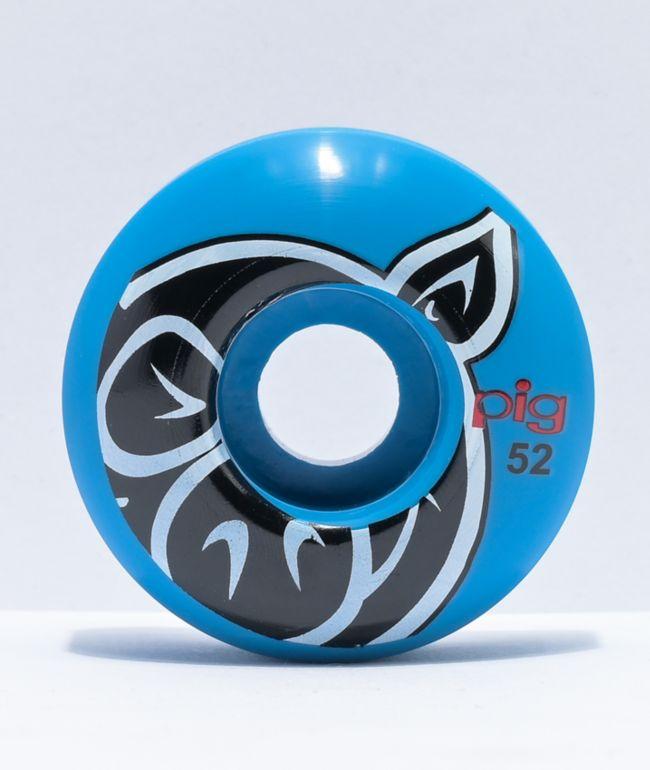 Pig 52mm 101a Blue Skateboard Wheels