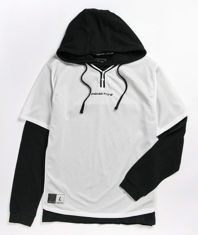 Primitive 2Fer White & Black Baseball Hoodie