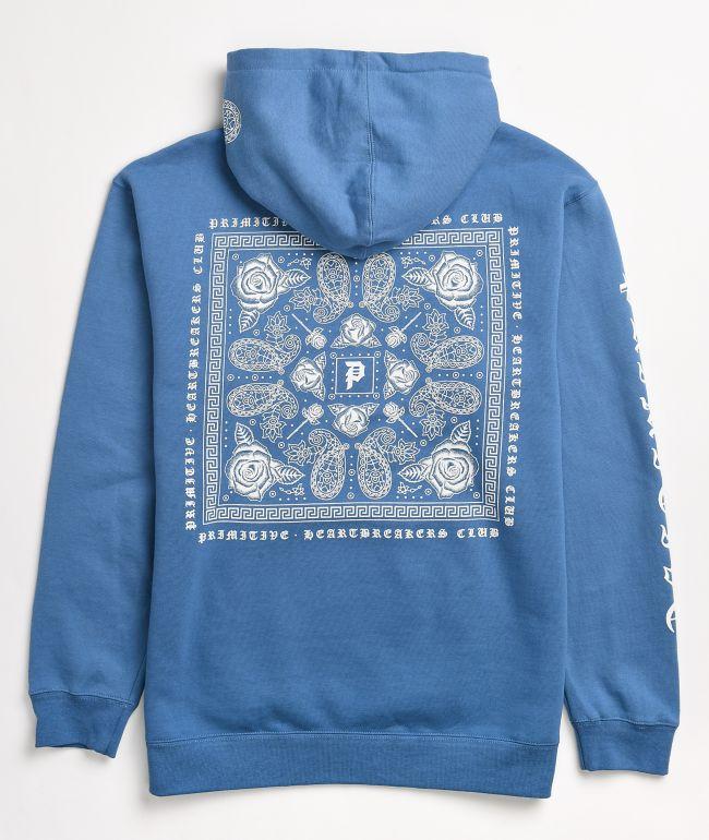 Primitive Bandana Light Blue Hoodie