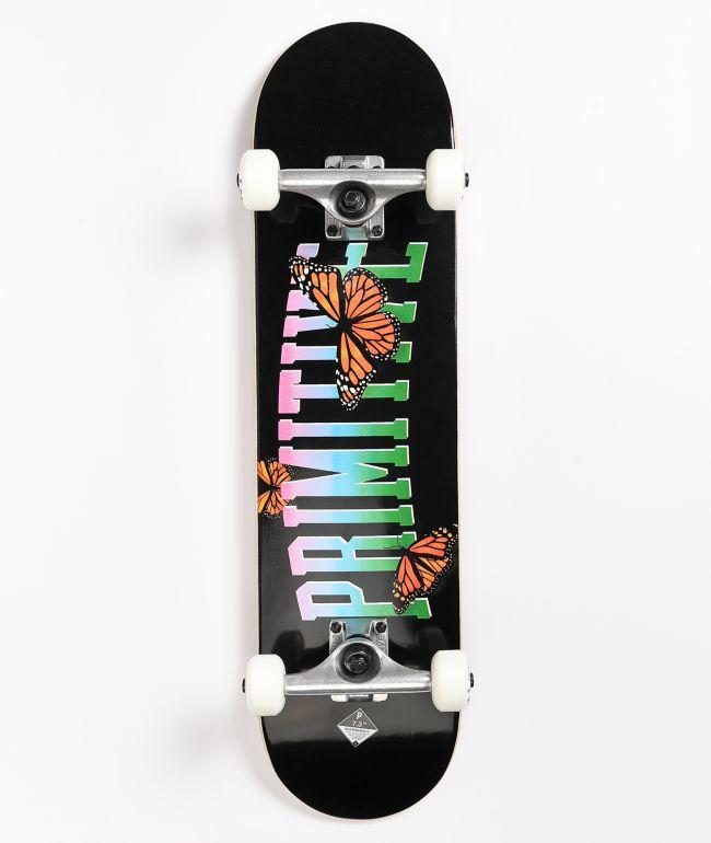 "Primitive Collegiate Butterfly 7.3"" Mini Skateboard Complete"