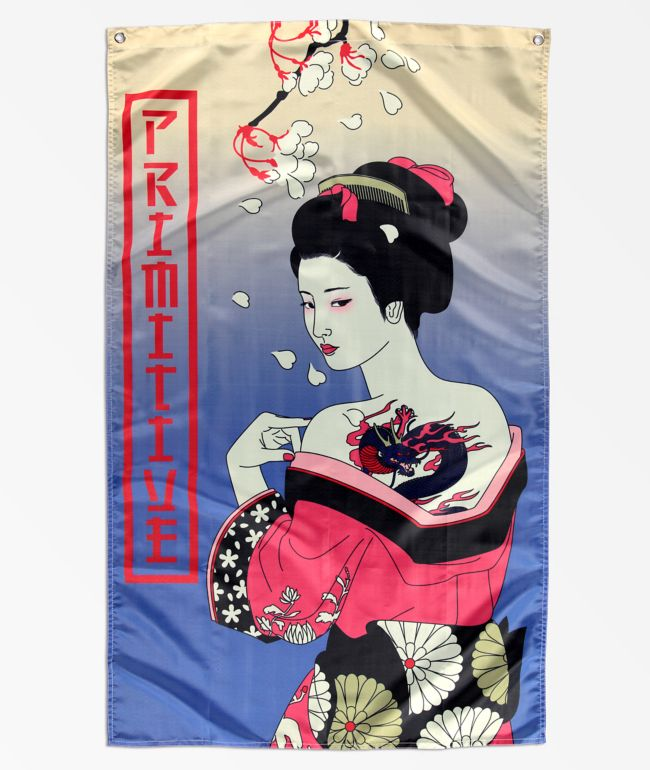 Primitive Geisha Flag