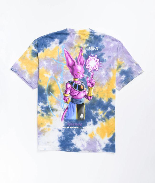 Primitive x Dragon Ball Super Beerus Orb Purple Tie Dye T-Shirt