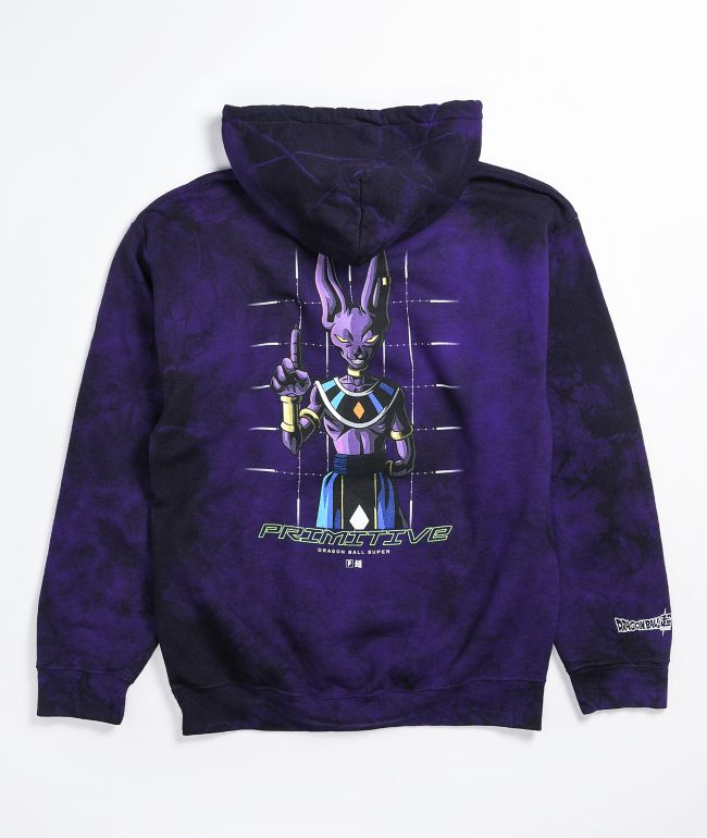 Primitive x Dragon Ball Super Beerus Purple Wash Hoodie