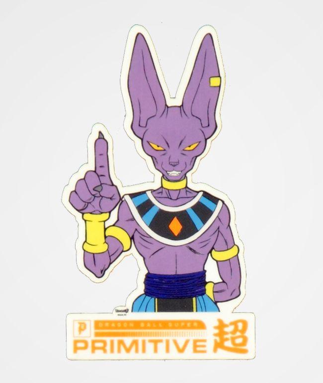 Primitive x Dragon Ball Super Beerus pegatina