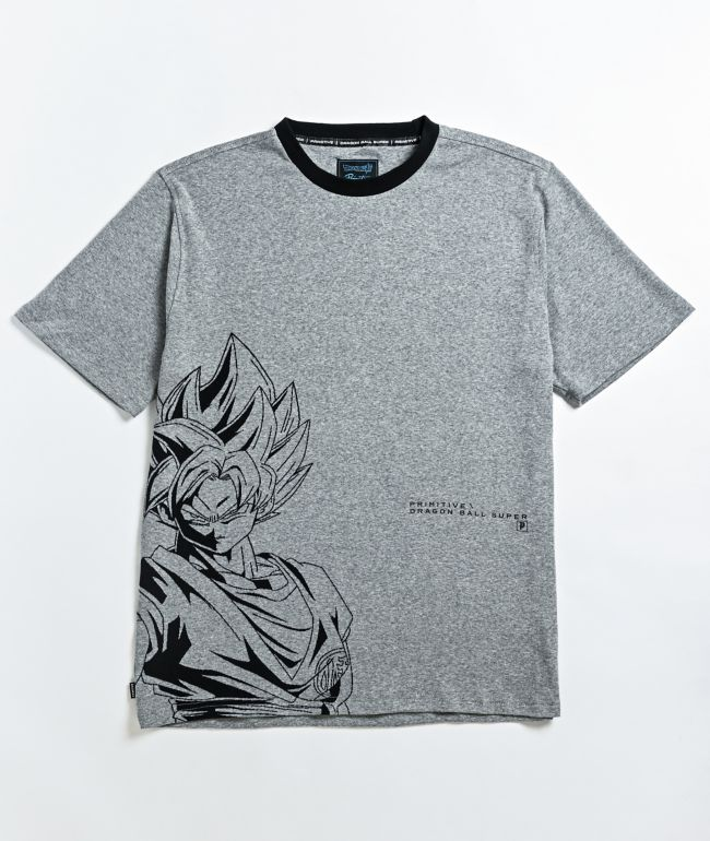 Primitive x Dragon Ball Super Goku Grey T-Shirt
