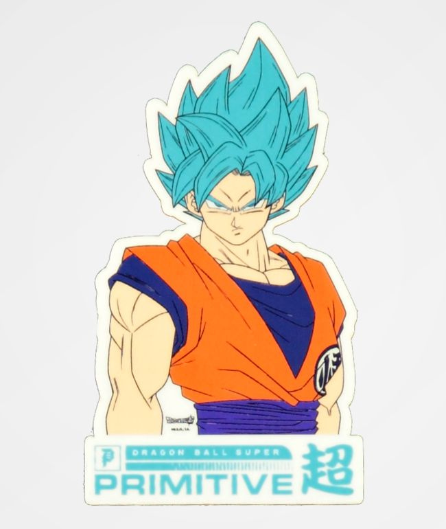 Primitive x Dragon Ball Super Goku Sticker