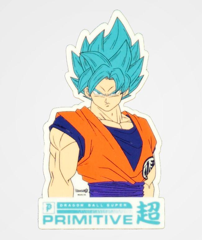 Primitive x Dragon Ball Super Goku Sticker