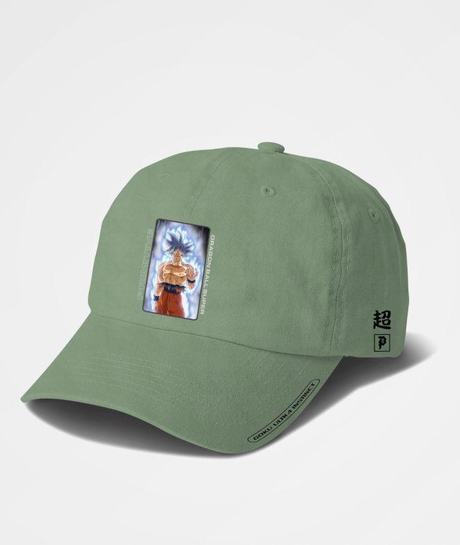 Primitive x Dragon Ball Super Goku Ultra Instinct Olive Strapback Hat