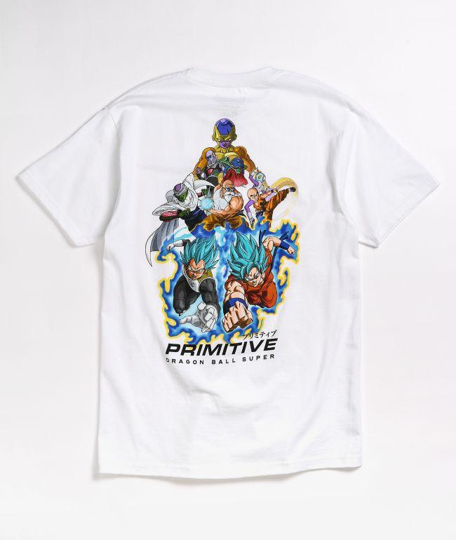 Primitive x Dragon Ball Super Resurrection camiseta blanca