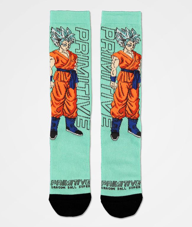 Primitive x Dragon Ball Super SSG Goku Crew Socks