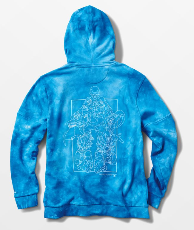 Primitive x Dragon Ball Super SSG sudadera con capucha azul