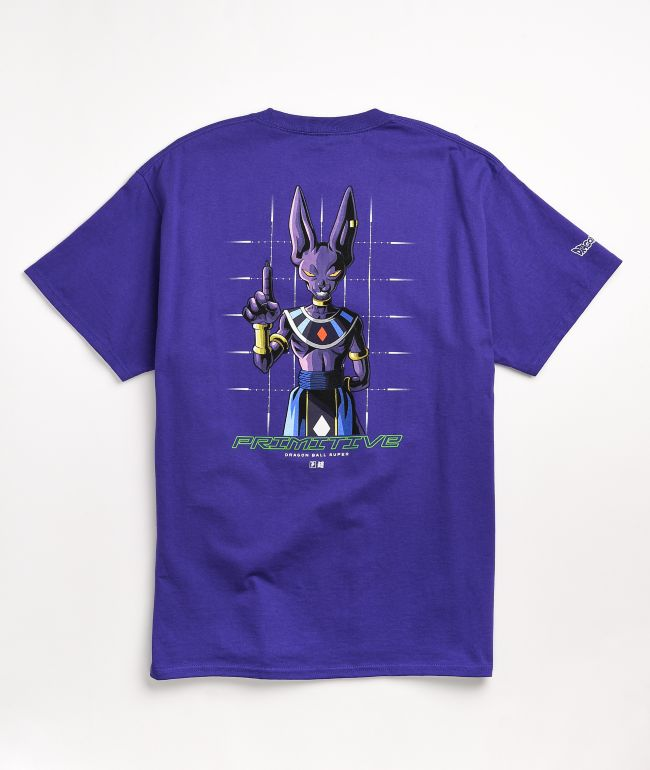 Primitive x Dragon Ball Super Shadow Beerus Purple T-Shirt