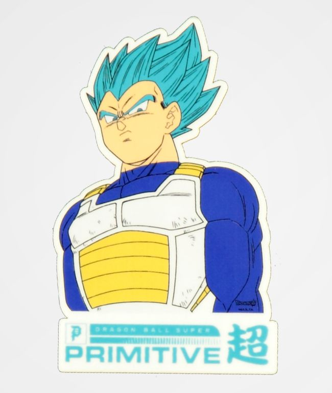 Primitive x Dragon Ball Super Vegeta pegatina