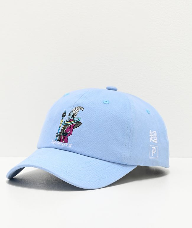 Primitive x Dragon Ball Super Whis Light Blue Strapback Hat