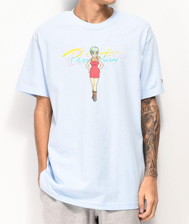 Primitive x Dragon Ball Z Nuevo Bulma Blue T-Shirt