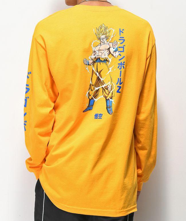Primitive x Dragon Ball Z Nuevo Goku Kids Tee in Yellow