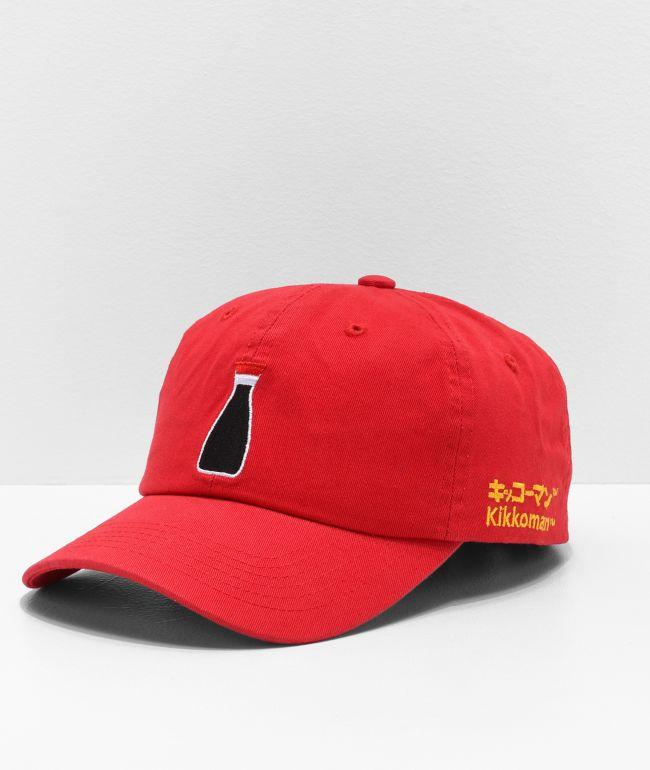 Primitive x Kikkoman Bottle Red Strapback Hat