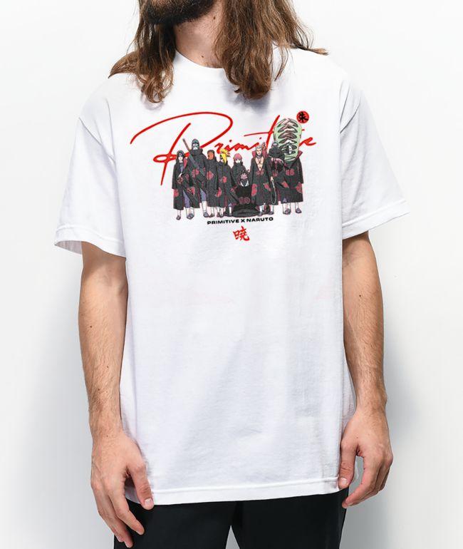 Primitive x Naruto Akatsuki White T-Shirt