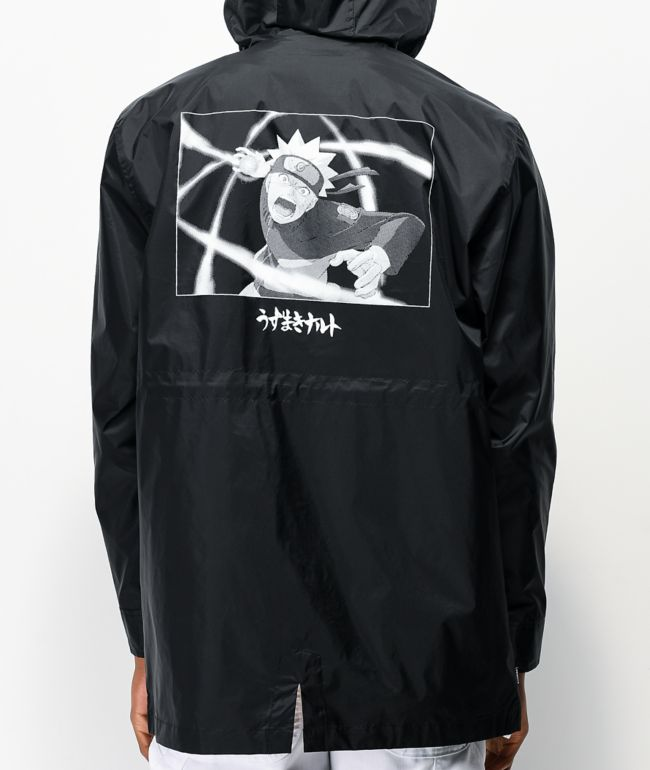 Primitive x Naruto Black Windbreaker Jacket