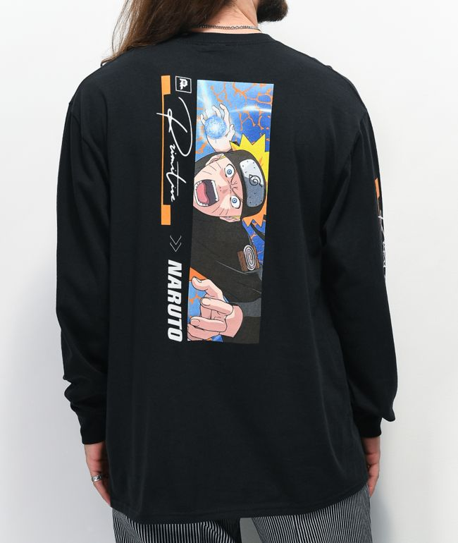 Primitive x Naruto Combat Black Long Sleeve T-Shirt
