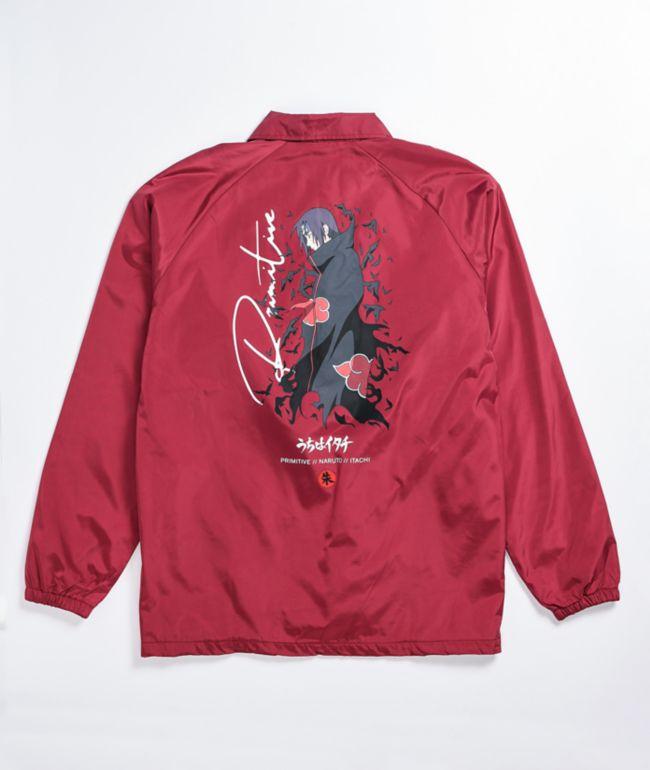 Primitive x Naruto Crows Burgundy Coaches Jacket