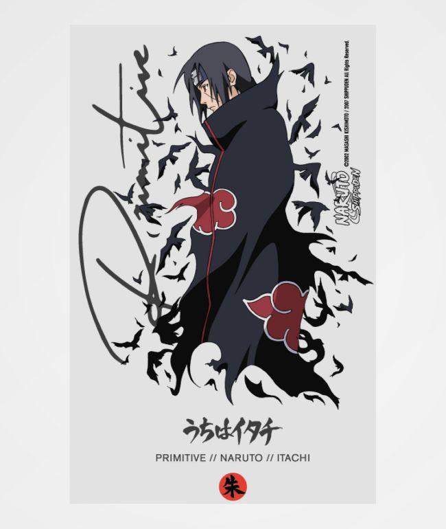 Primitive x Naruto Crows pegatina blanca