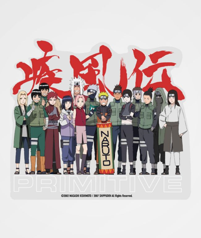 Primitive x Naruto Leaf Village Sticker