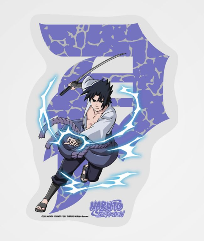Primitive x Naruto Sasuke Dirty P Sticker