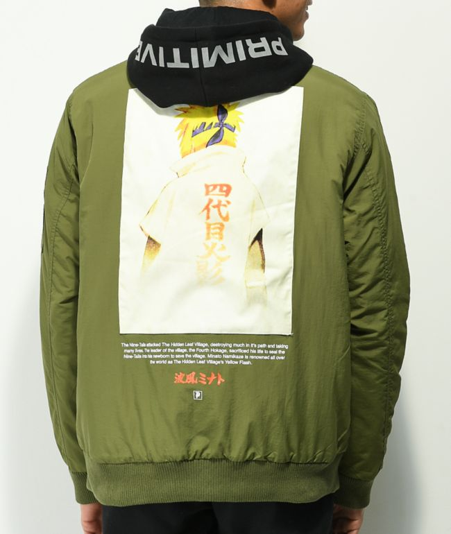 Primitive x Naruto Shippuden Green Bomber Jacket