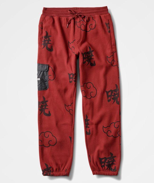 Primitive x Naruto Shippuden II Akatsuki Burgundy Fleece Jogger Pants