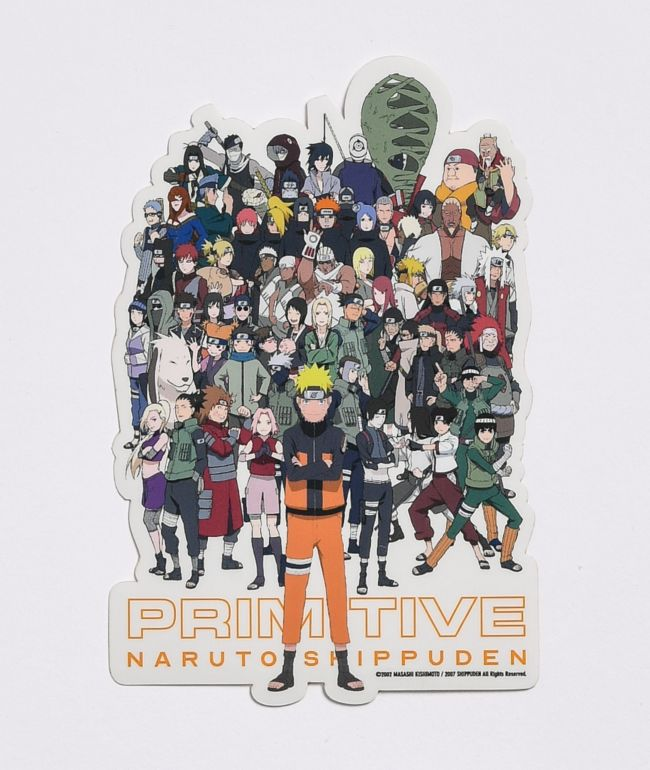 Primitive x Naruto Shippuden II White Sticker