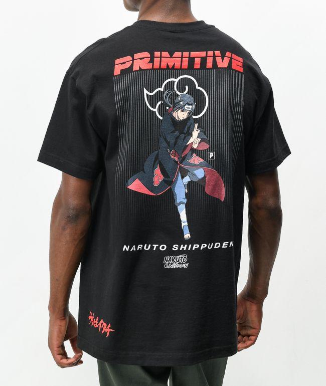 Primitive x Naruto Shippuden Itachi Uchiha Black T-Shirt