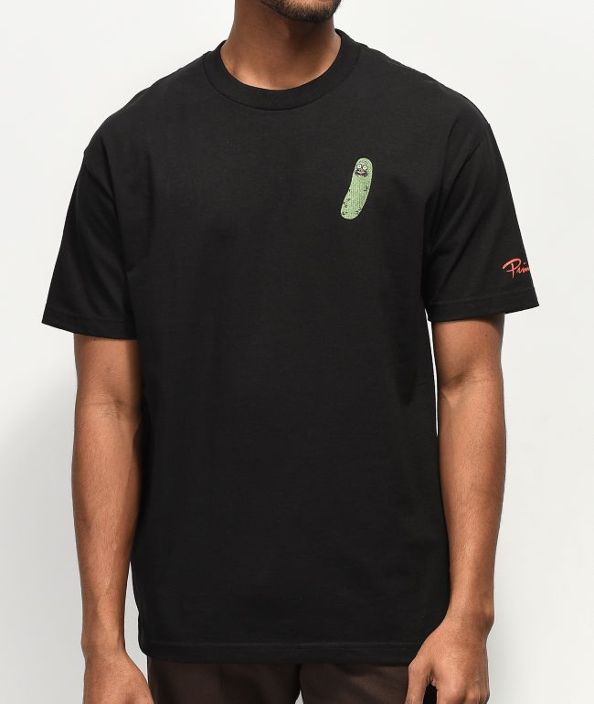 Primitive x Rick and Morty Pickle Rick camiseta negra